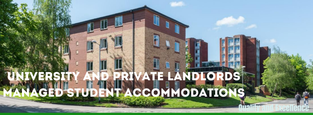 Student accommodation, hostels and private landlord renting